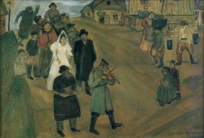 marc-chagall-jewish-wedding-in-russia-1909